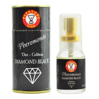 DIAMOND BLACK Pheromonas, Perfume Afrodisíaco Masculino - 20 ml